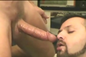 homo men fitting big weenies in the face hole