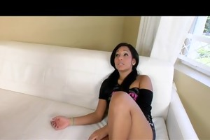 slim cute brunette hair slut sucks and bonks hard