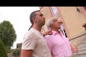 lustful french brunette sluts fuck in threesome