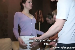 youthful sex parties - sharing girlfriends is fun