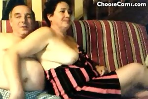 horny grandma and older man having pleasure