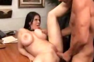 large pantoons boss gets fucked in her office