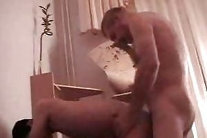 gay daddy bangs his youthful boi doggy style