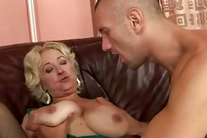 granny enjoying sex with juvenile dude