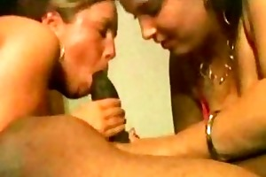 mommy and daughter share a bbc