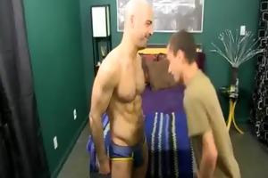 fascinating daddy and horny son fuck with adam