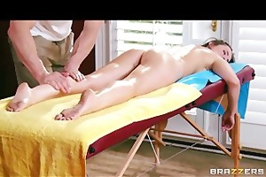 lily carter is oiled up & screwed in the