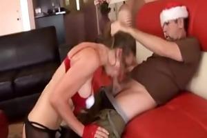 santa gal fucking good boy