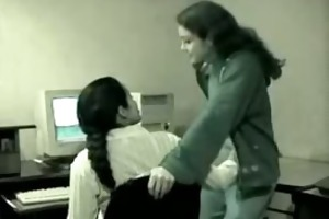 - cute youthful latin office teenies scared of