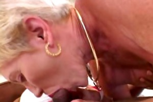 granny likes younger black pecker