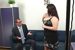 huge titted doxy takes two knobs after