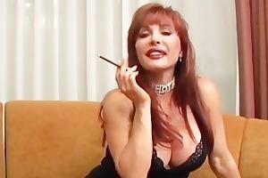 sexy mature vanessa smoking before sex