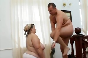 bulky old aged housewife gets her tight part4