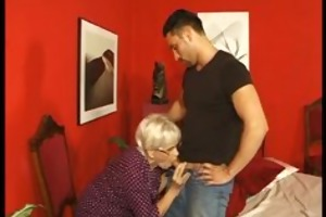 old cougar acquires her cookie pumped by young