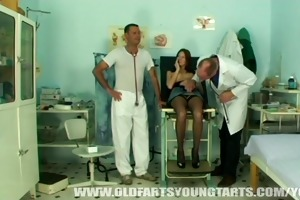young hot girl getting fucked at the gynaecologist