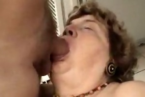 messy cock for a slutty old grandma