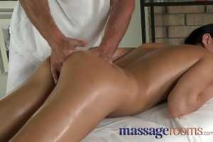 massage rooms young dark haired angels enjoy