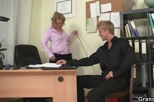 hawt office sex with older bitch