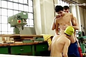 three-some hard huge jock from hammerboys.tv