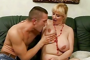 lusty busty granny fucking with young stud