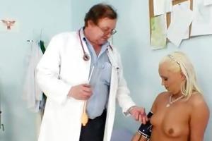 golden-haired klara getting pussy gyno examined