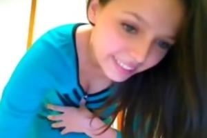 hot brunette hair teen cam checkered