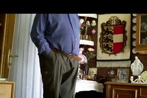 grandpa undressing