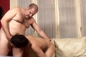 corpulent daddy bonks young twink