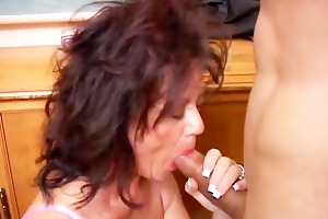 nice-looking mature sweetheart gives a irrumation