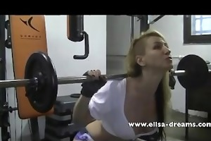 immodest workout with my huge dark sex-toy