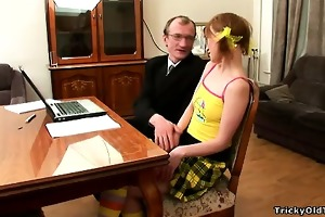hot sexy skinny gingerhead student gets drilled
