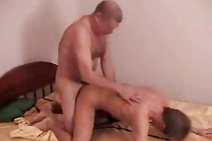 old fart fucking cute guy in doggy style badly