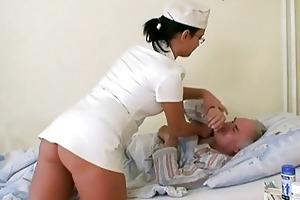 grandad babe fucking the nurse