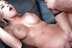 busty blonde cutie drilled by her friends brother
