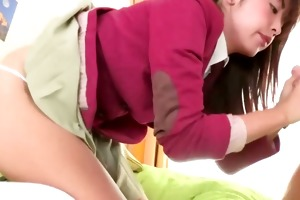 juvenile innocent oriental teen gives head