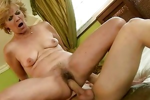 granny enjoys hawt sex with her youthful paramour