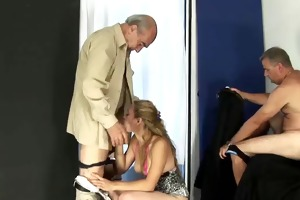 2 old hirsute man fucking young wife