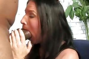 brunette mother gets boned by a large black dong