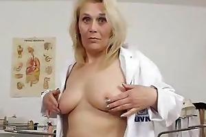 blonde curvicious older nurse