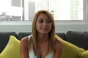 casting couch-x blonde gymnast acquires flexible