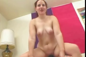 chubby gf engulfing and riding her old boyfriends