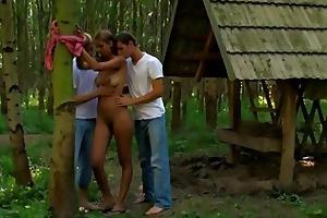 outdoor trio pleasuring