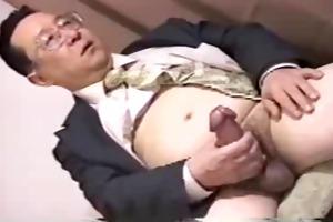 japan dad have large cock stroking