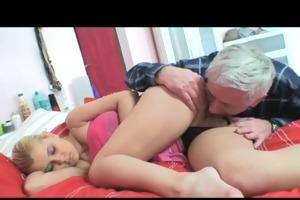 nasty old man screws youthful blonde