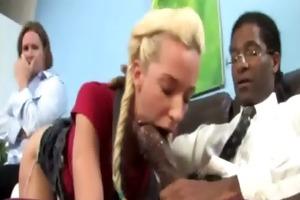 hunky black teacher makes blond legal age