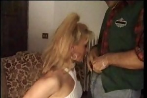 french whore in white stockings fuck in her
