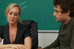 blond teacher brandi love riding dick in classroom