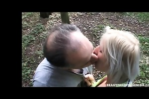 blond legal age teenager babe fuck an old guy