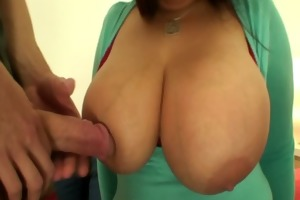 massive titted lady gives head and rides cock