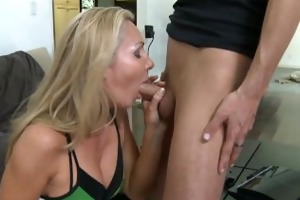 sexy golden-haired lisa demarco gets drilled